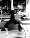 back bend with leg up