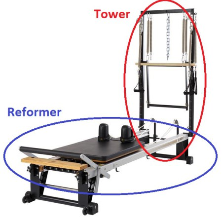 Pilates equipment Reformer and Tower