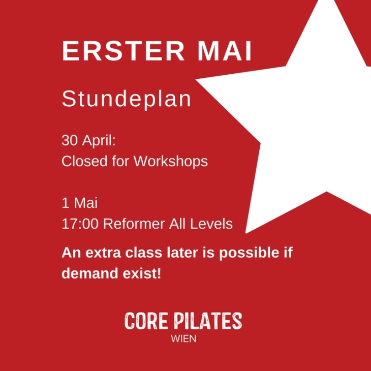 core Pilates Studio Vienna 1 may schedule